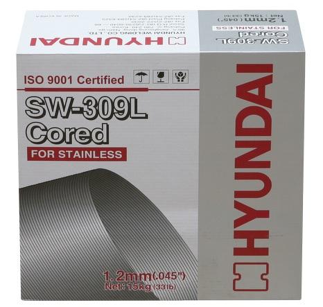 Dây hàn lõi thuốc Inox, Dây hàn Inox, Dây hàn lõi thuốc Inox - HYUNDAI SW-309L